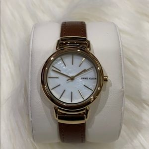 Anne Klein Leather and Opal Watch